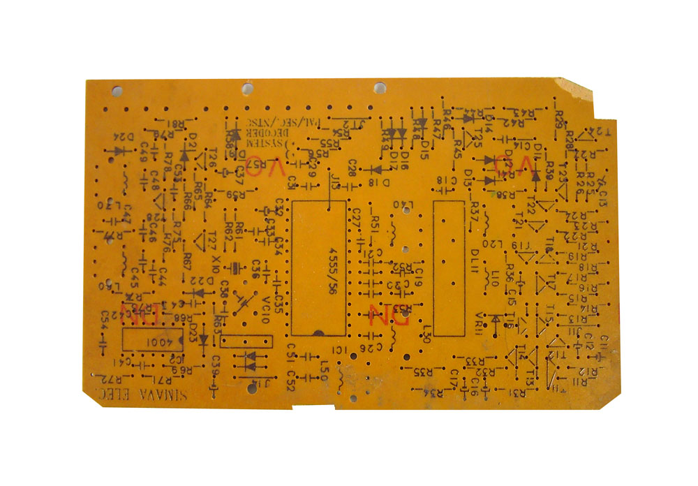 Secam Pal NTSC Decoder PCB
